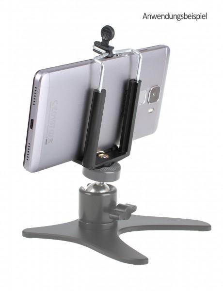 """Photecs® Smartphone Stativ Adapter 1/4"""" Gr. L (von ca. 60 bis 85 mm) / Handy Halter"""