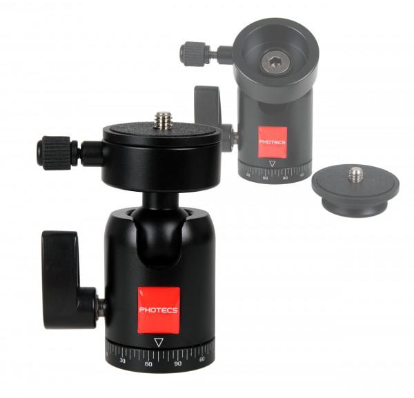 "Photecs® Schnellwechsel-Stativkopf Pro V2, kompakter Kamera Stativkopf mit 3/8""-Anschluss"