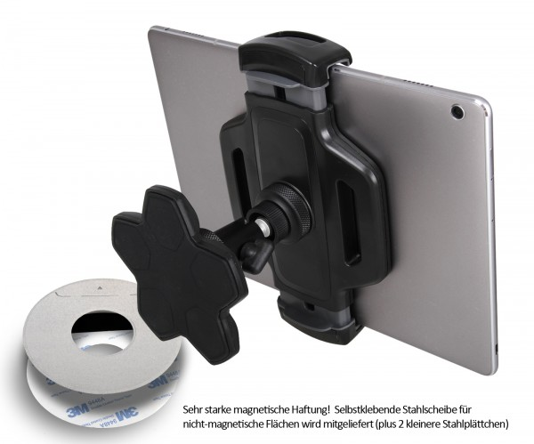 """Photecs® Magnet Tablet-Halterung Pro V6, Befestigung & Halter f. iPad Pro 12.9"""" o. andere Tablet-PC"""