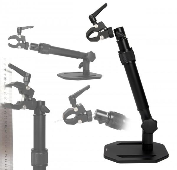 Photecs® Dritte Hand V2, höhenverstellbar bis ca. 37 cm, Objekthalter, Werkzeugträger