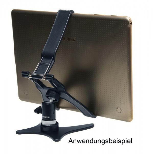 Photecs® Tablet Ständer Pro V1-PX, vielseitig verstellbarer Tischständer f. Tablets bis 21cm