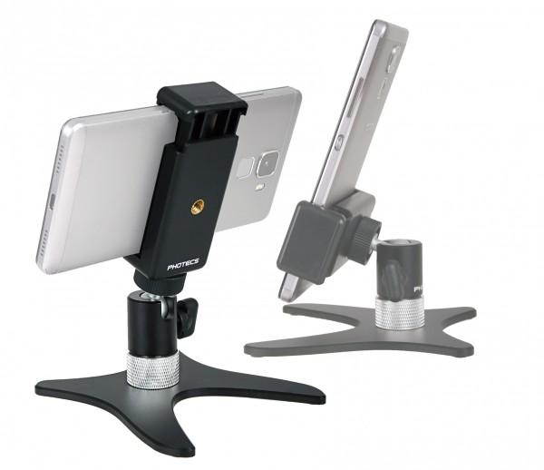 """Photecs® Smartphone Stativ """"Pro V2-PX"""", Selfie-Stativ, Handy-Halter, Ständer für Handy, Kameras etc."""
