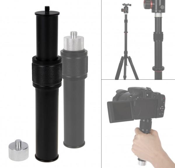 Photecs® Stativ Verlängerung Pro, verstellbares Mini-Monopod, Kamera-Handgriff mit Gew.adapter