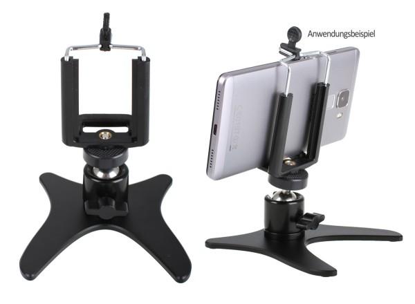 Photecs® Smartphone Stativ Basic V1, Handy Stativ, Tischständer für Handy, Kameras etc.