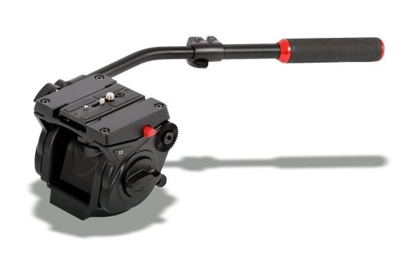 Photecs® Fluid Videokopf T2 mit flacher Basis, hochfeste Alu-Legierung, Belastbarkeit ca. 6 kg,