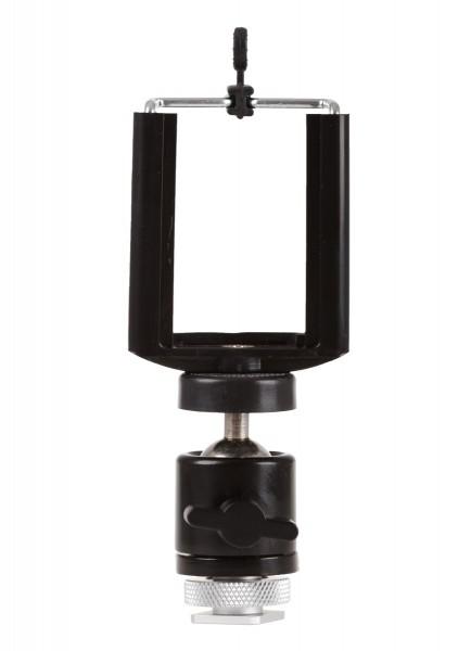 Photecs® Blitzschuh-Adapter Set V2 mit Halter Gr. L (ca. 60-85mm), Smartphone auf Blitzschuh