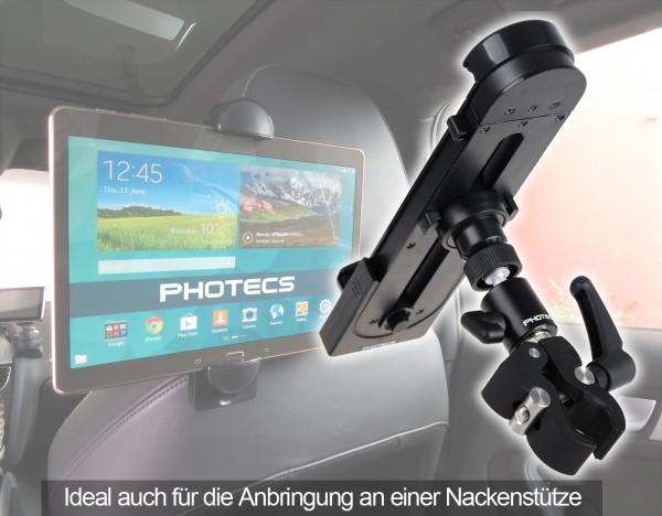 Photecs® Universal Auto Tablet-Halterung Pro V1 für iPad Pro und andere Tablet-PC bis zu 14 Zoll ode