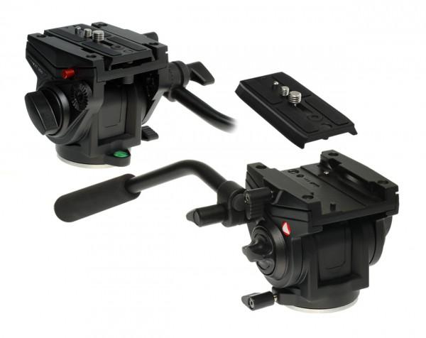 Photecs® Kompakter Fluid Videokopf Videoneiger T1, hochfeste Alu-Legierung, Belastbarkeit 4-5 kg