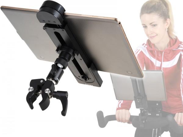 Photecs® Universal Tablet-Halterung Pro V1, Klemm-Halter f. iPad Pro & Tablet-PC´s o. Smartphones