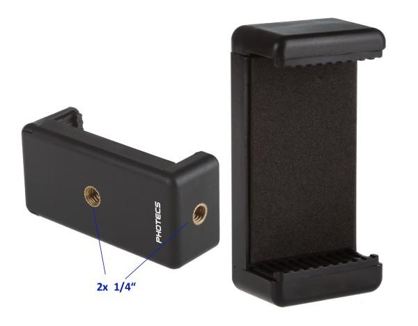 """Photecs® Smartphone Halter V2, Handy Stativ Adapter 1/4"""" (von ca. 55 bis 85 mm), Phone Halter"""