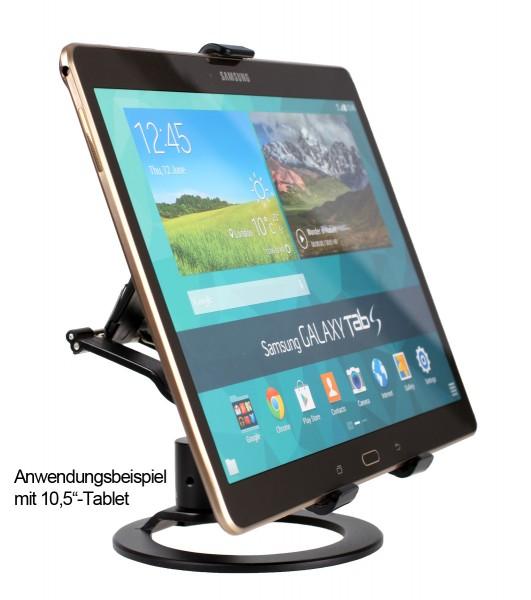Photecs® Tablet Ständer Pro V1-PR, vielseitig verstellbarer Tischständer f. Tablets bis 21cm
